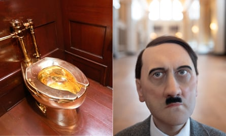 'How does it feel to urinate on gold? Much like peeing on porcelain' … Cattelan's toilet and Hitler at Blenheim.