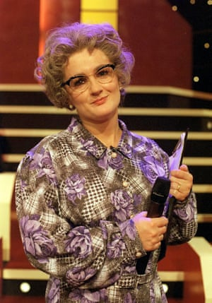 Making the uncool hip … Aherne in The Mrs Merton Show.