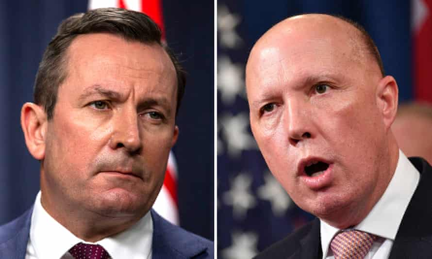 Mark McGown and Peter Dutton
