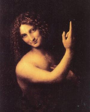 Leonardo da Vinci's St John the Baptist.