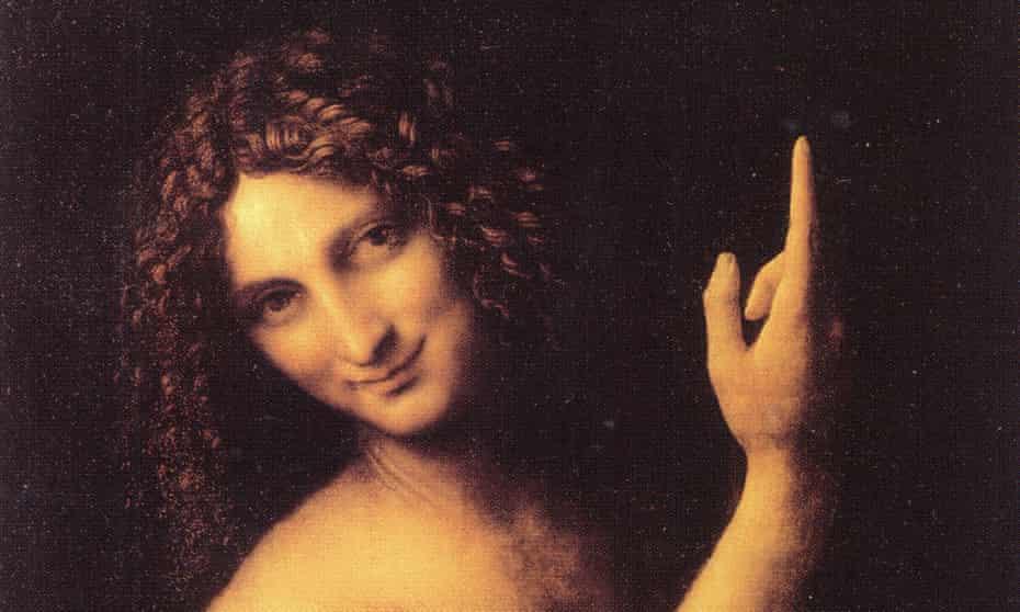 Phallic finger … Leonardo's homoerotic St John the Baptist.