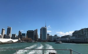 View of Auckland from a ferry