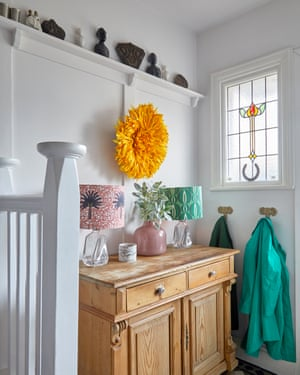 Sense of shelf: African touches light up a London house.