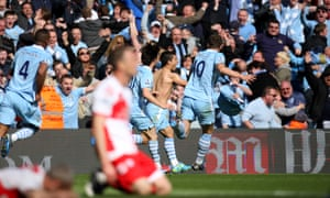 Sergio Agüero's last-gasp winner earned City's first title since 1968, less than four years after the takeover.