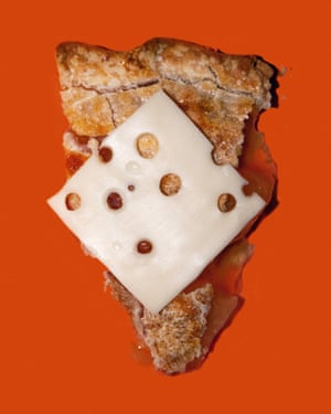 A slice of apple pie with cheese on it, from photographer Olivia Locher's I Fought the Law series