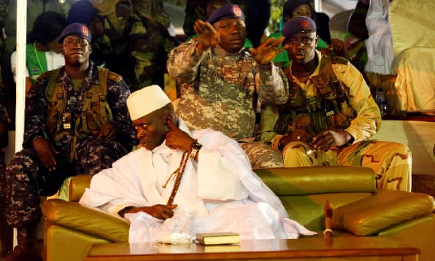 Yahya Jammeh at a rally in Banjul, the Gambia, in 2016.