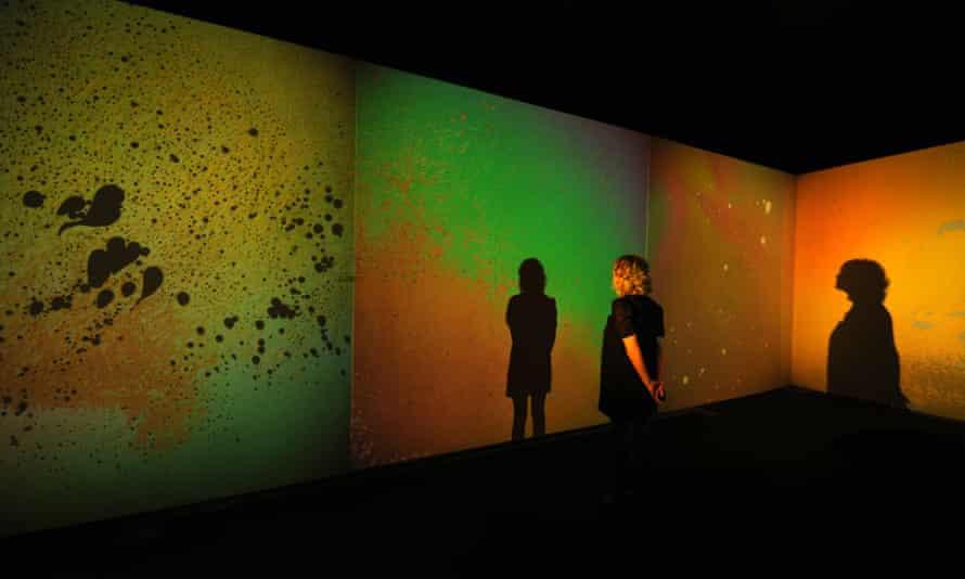 The random creativity of Gustav Metzger's Liquid Crystals at the Serpentine Gallery, London, 2009.