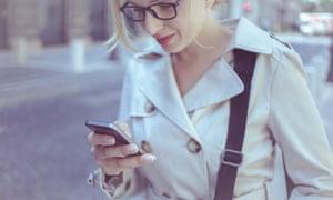 woman browsing