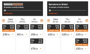 Airlines use dynamic pricing on flight tickets.