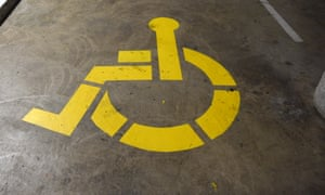 A disability carpark sign at Parliament House in Canberra