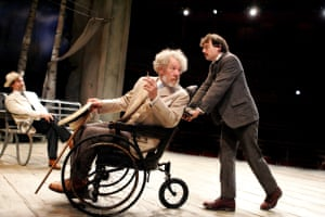 2007 As Sorin, with Jonathan Hyde as Dorn, left, and Ben Meyjes as Medvedenko in The Seagull, adapted and directed by Trevor Nunn at Stratford