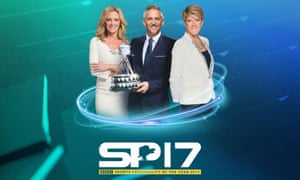 BBC Sports Personality of the Year presenters Gabby Logan, Gary Lineker and Clare Balding