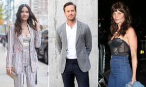 With power comes responsibility … (from left) Olivia Munn, Armie Hammer and Helena Christensen.