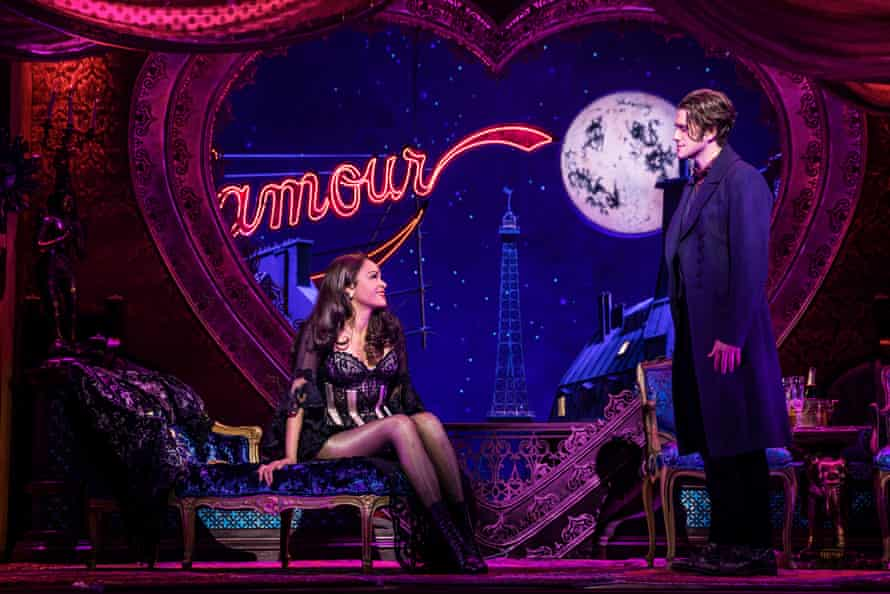 Karen Olivio (Satine) and Aaron Tveit (Christian) from the original Broadway cast of Moulin Rouge!