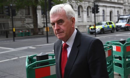 Shadow chancellor John McDonnell. Under a Labour plan, money given in a universal basic income trial could be spent any way the recipients wanted to.