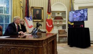 Washington DC, USA President Trump and his daughter Ivanka