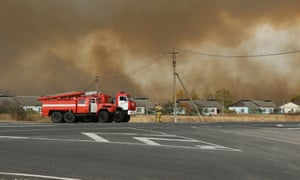 Firefighters worked into the night to fight a blaze at an ammunition depot in Russia's Ryazan region.