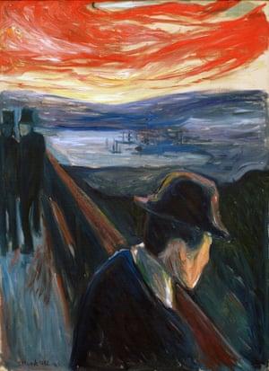 Munch's Sick Mood at Sunset: Despair.