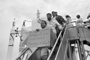 'Poor people' protest at the Apollo 11 launch.
