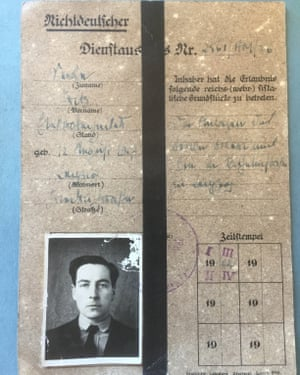 The false document that Rolt hid from the Nazis while a prisoner of war