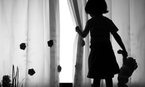 A child alone in a room