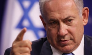 Israeli prime minister Benjamin Netanyahu speaking at the Center for American Progress in Washington on Tuesday.
