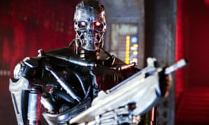 A robot from the Terminator movies