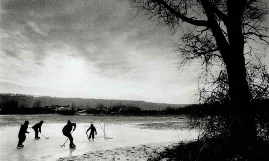 When school's away; the Boys will play; And a frozen bog just outside Grimsby provided the ideal setCANADA - JANUARY 01: When school's away; the Boys will play; And a frozen bog just outside Grimsby provided the ideal setting Tuesday afternoon for Canada's national pastime -- ice hockey. The cold Arctic air mass will continue to hold Southern Ontario in its grip today with highs of minus 3C (37.5F) predicted for most of the region. Niagara and Metro may even see a snow flurry. (Photo by Peter Power/Toronto Star via Getty Images)