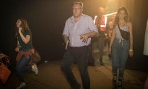 Ed Balls dancing at Shangri-La