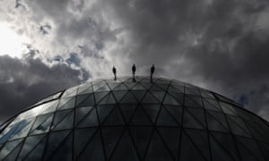 Dancers walk down City Hall, London, as part of the American choreographer Elizabeth Streb's One Extraordinary Day in 2012, enabled by Alan Jacobi.