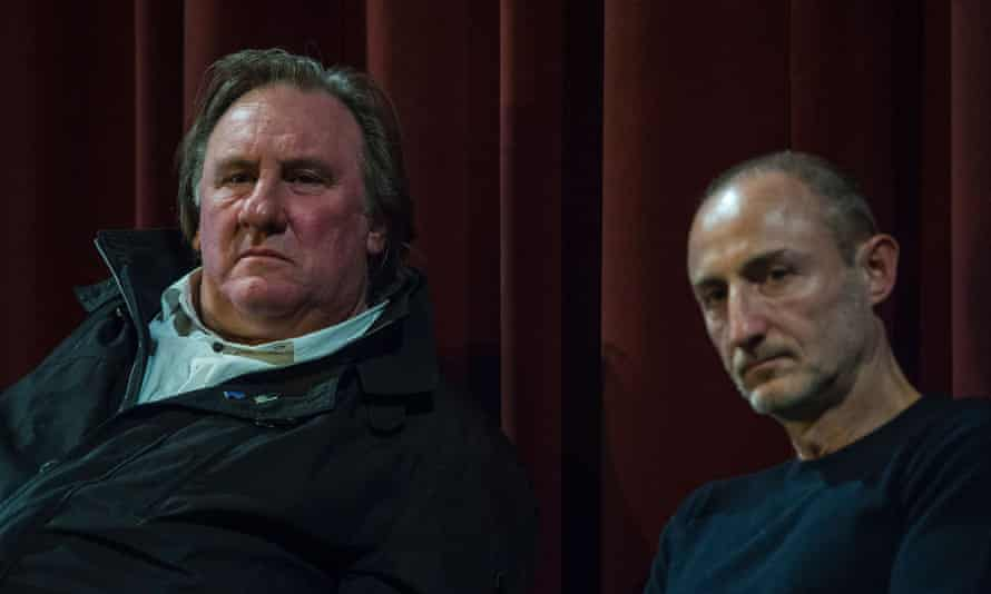 Gérard Depardieu and Guillaume Nicloux at the Berlinale in February.