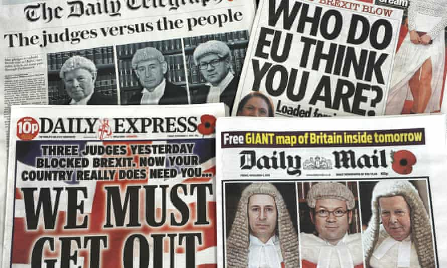 Front pages of British newspapers on 4 November