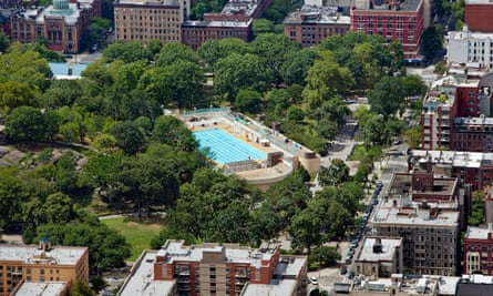 Marcus Garvey Park, in Harlem, New York City. Study also found that parks serving majority low-income households are on average four times smaller and four times more crowded than those that serve mostly high-income households.