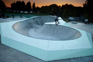 In deep ... the skatepark has one of the deepest 'bowls' in the UK.
