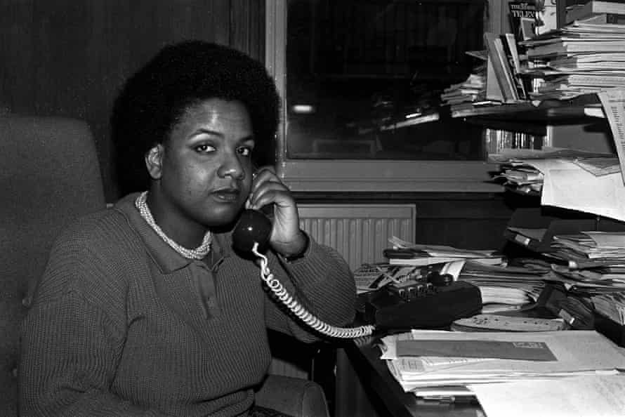 Diane Abbott in 1986, when she was an equality officer for the film technicians' union ACTT