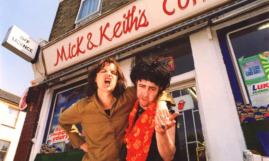 Phil Cornwell (Mick Jagger) and John Sessions (Keith Richards) in Stella Street (1998).