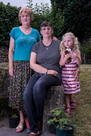 Lynne Sandford (mother of Michael), centre, with her mother, Christine, left and Lynne's daughter, Jessica