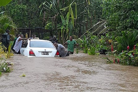 Cyclone Harold hit the Solomon Islands before moving to Vanuatu
