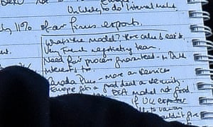 A close-up of the part of the handwritten document with the phrase 'have cake and eat it'.