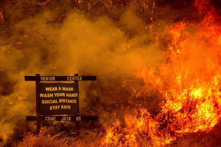 Wildfire and Covid in California