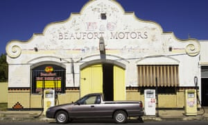Old garage in Beaufort, Victoria. Retail figures show Australian car sales have been falling for 12 months, with sales down 11% in New South Wales and 11.7% in Victoria in February alone