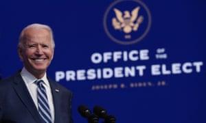 President-elect Joe Biden has been downplaying Donald Trump's behavior.