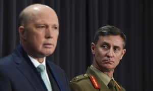 Home affairs minister Peter Dutton announces Major General Craig Furini as the new Operation Sovereign Borders commander.