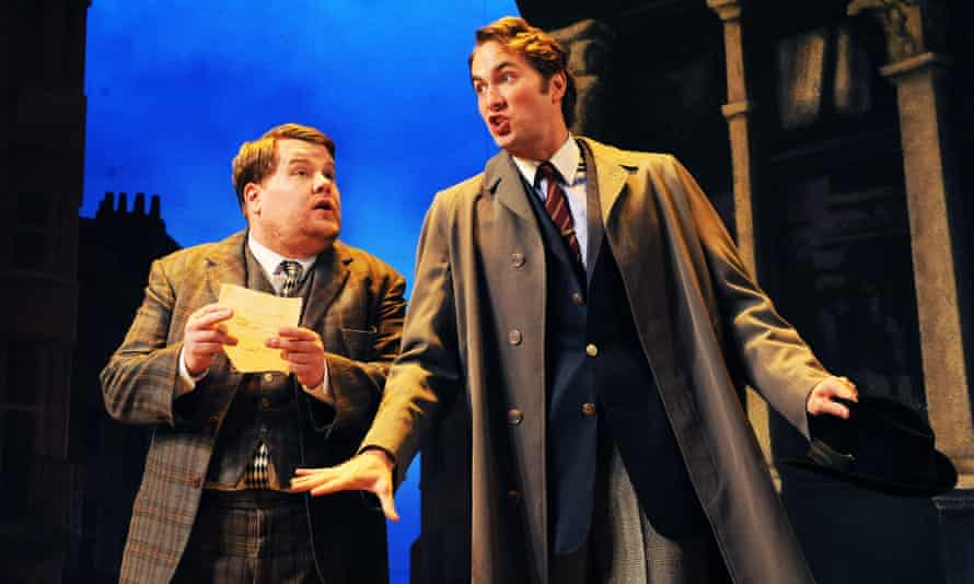 James Corden and Oliver Chris in One Man Two Guvnors, the first production streamed for NT at Home.
