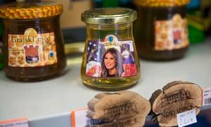 Melania Trump-branded honey on sale in Sevnica.