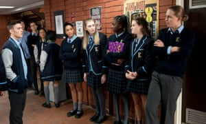 Students at Erinsborough High from TV series Neighbours