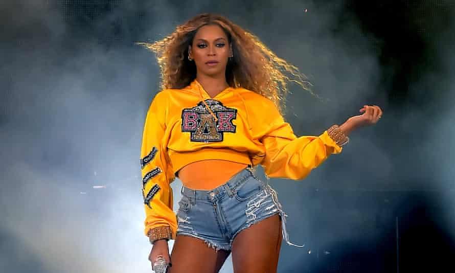 Beyoncé at Coachella in 2018.
