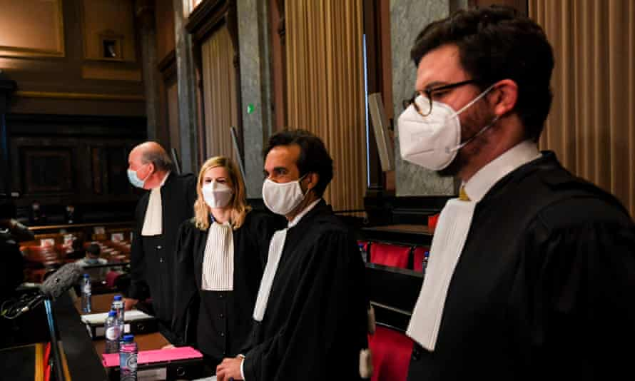 The European Commission's lawyers Paul Alain Foriers, Fanny Laune, Charles-Edouard Lambert and Rafaël Jafferali in court