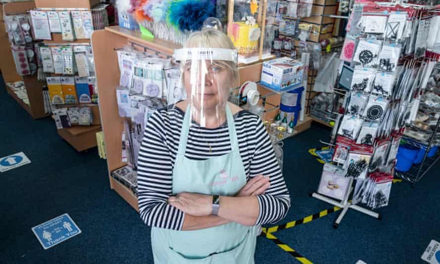Debbie Bass in her shop in June