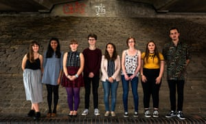 Sheffield University students' union welfare officer Anna Mullaney (L) with members of the Mental Health Matters Society (2nd L to R): Reena Staves, Megan Myer, Tom McGrath, Carmen Galvan, Lucy Baldwin, Grace Marlow, Joseph Bonnett.